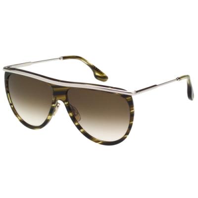 Victoria Beckham 維多利亞貝克漢 太陽眼鏡 (透明琥珀+銀色)VB155S