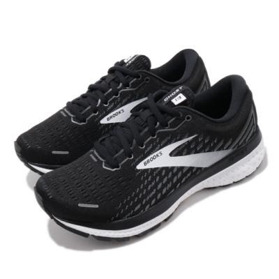 Brooks 慢跑鞋 Ghost 13 Wide 寬楦 女鞋 路跑 緩震 DNA科技 透氣 球鞋 黑 白 1203381D012