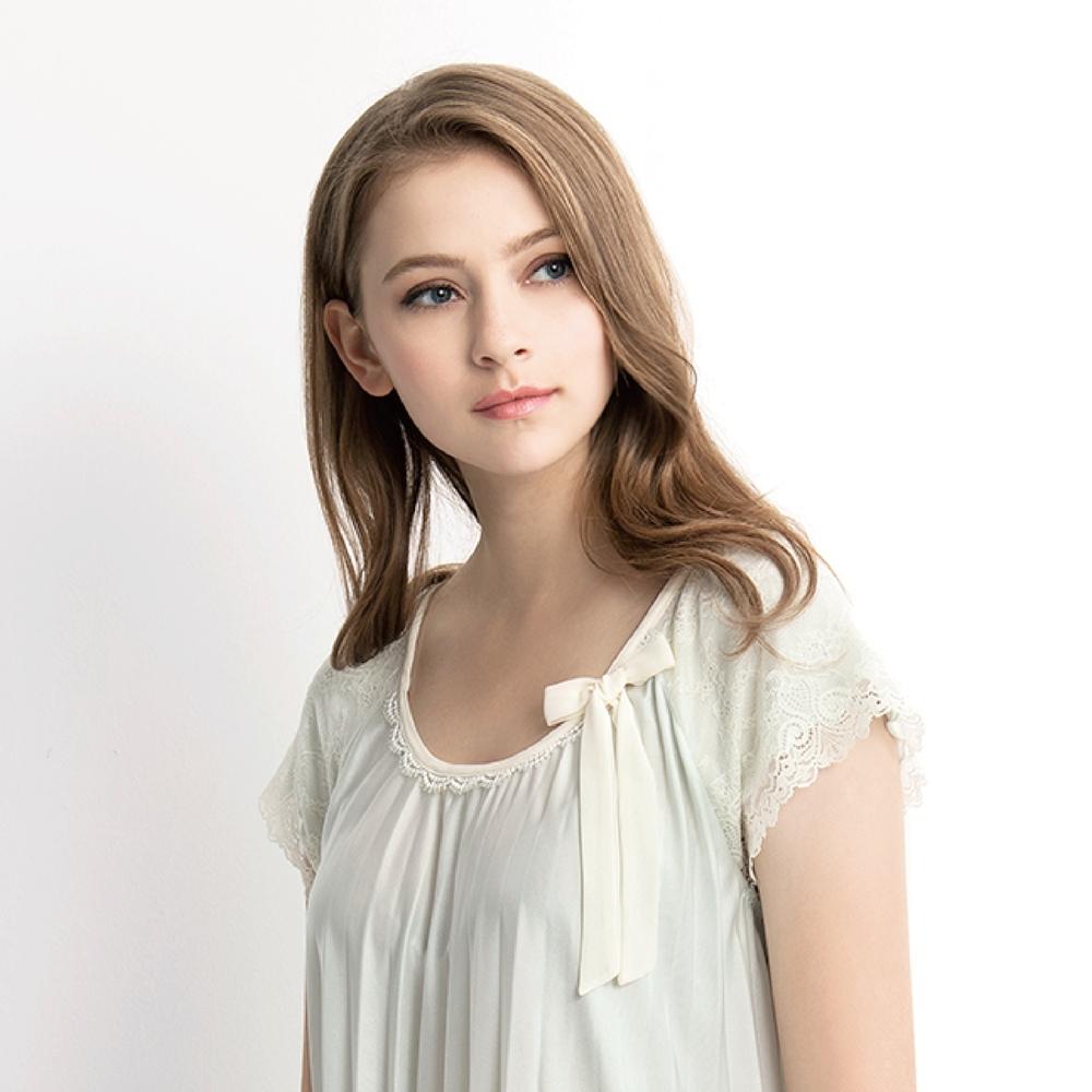 RoseMaid 羅絲美 - 輕柔樂曲短袖洋裝睡衣(柔嫩綠) (柔嫩綠)