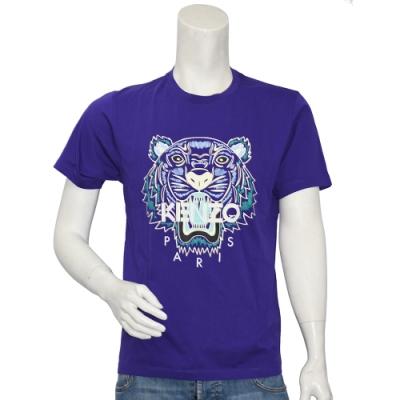 KENZO 經典老虎標誌印花圓領衫(紫)