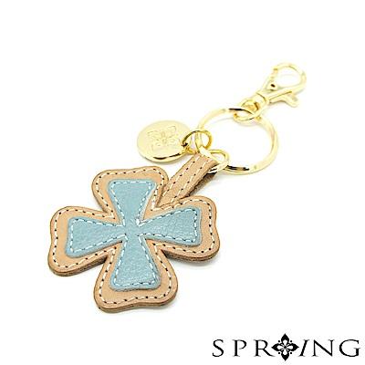 SPRING-朵朵滿滿幸運草鑰匙圈-幸運湖泊藍
