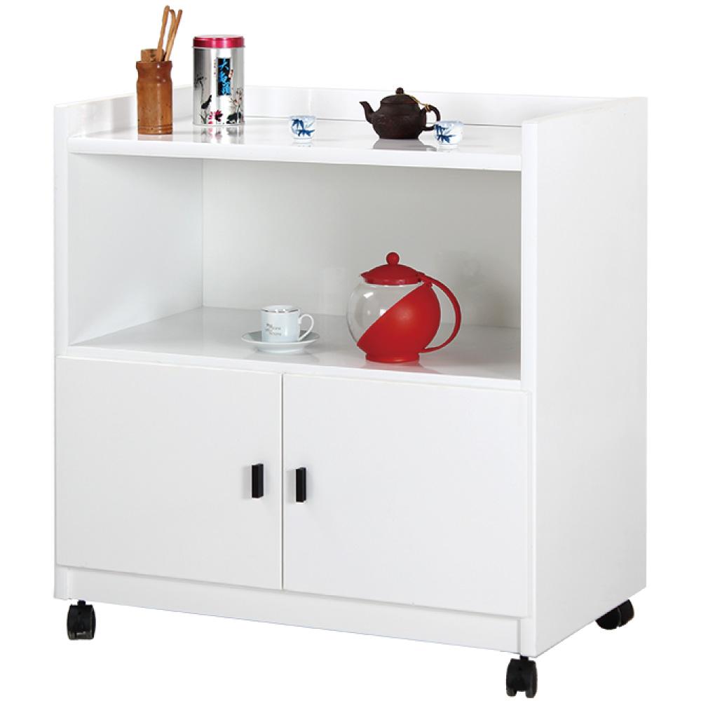 文創集 艾格羅2.7尺塑鋼二門書櫃(六色)-81.5x47x86cm免組