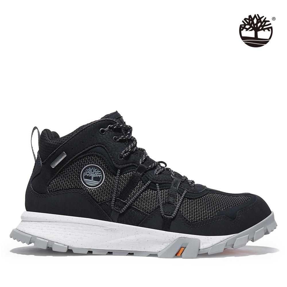 Timberland 男款黑色Garrison Trail防水中筒健行靴|A2A1R