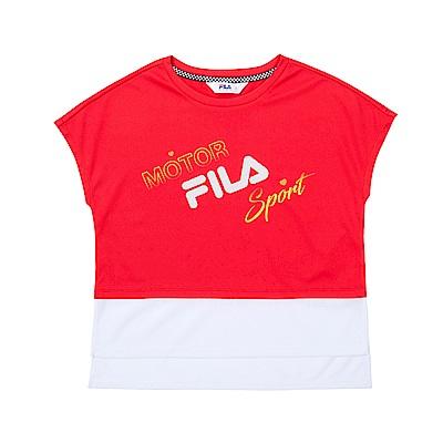 FILA KIDS 童吸濕排汗上衣-紅 5TET-4462-RD