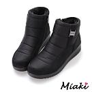Miaki-雪靴韓流時尚保暖短靴-黑