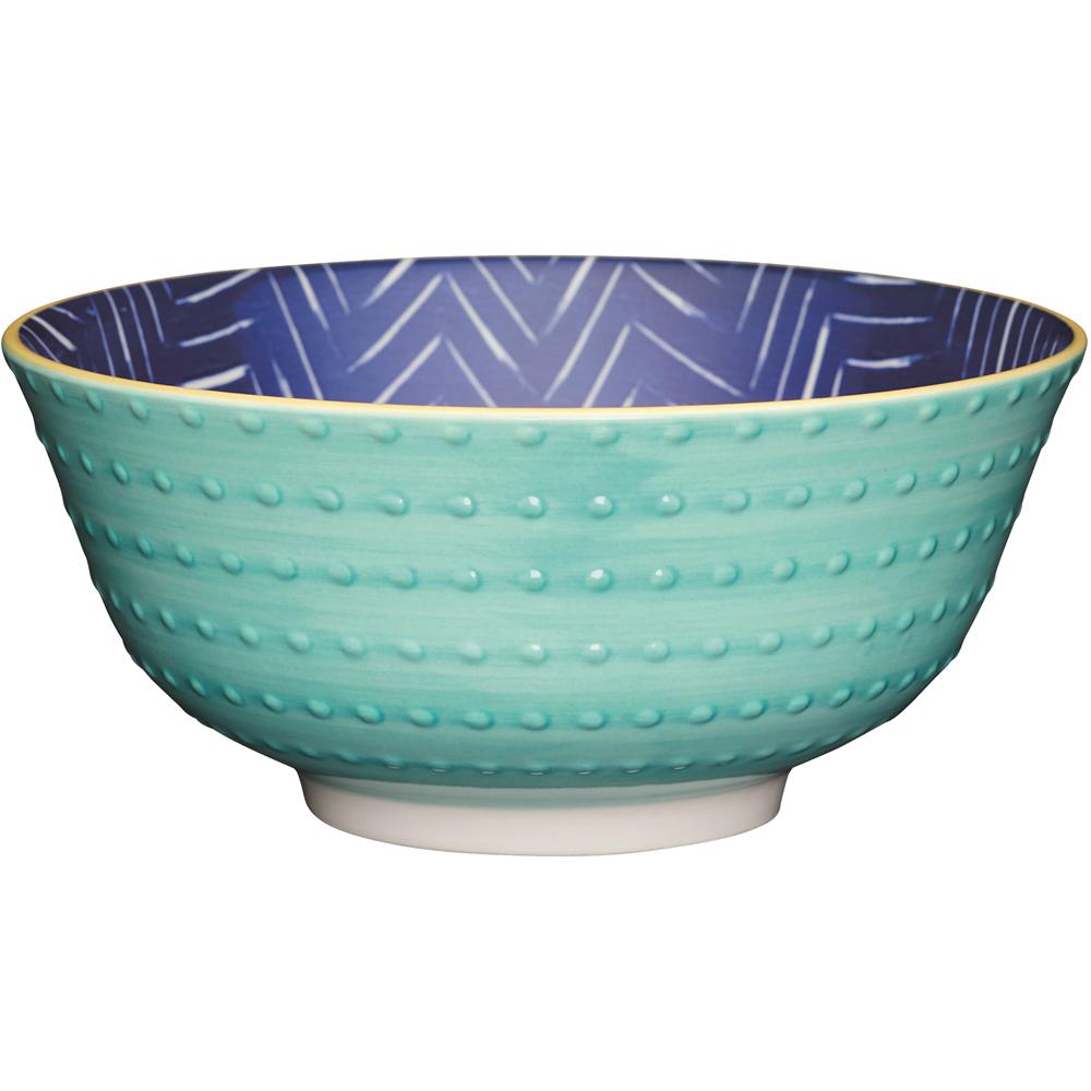 《KitchenCraft》陶製餐碗(凸紋藍)
