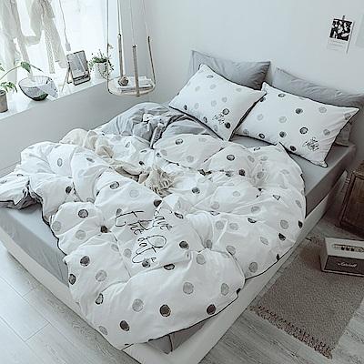 BUNNY LIFE 北歐都會 精梳純棉床包被套組-加大-點夢