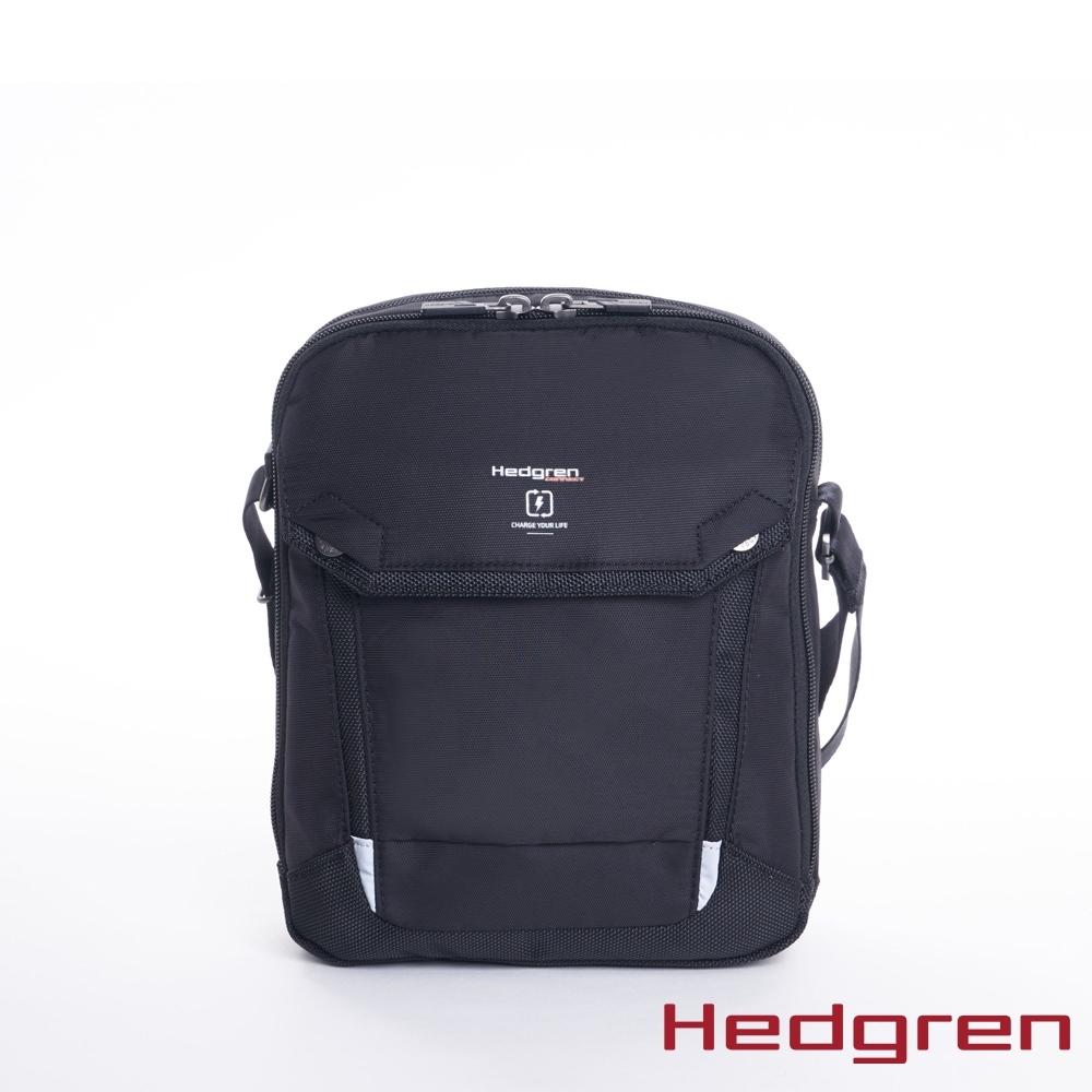 "Hedgren - 黑7""平板側背包 - HLNK01  CONTACT"