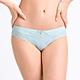 黛安芬-FLORALE熱艷麗菊系列超細纖維蕾絲無痕中腰三角內褲M-EEL 銀藍色 product thumbnail 1
