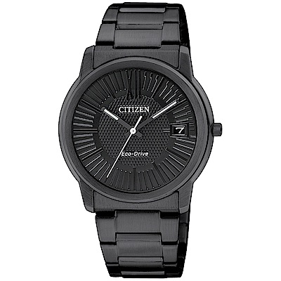 CITIZEN星辰光動能簡約時尚手錶(FE6015-56E)-黑/34mm