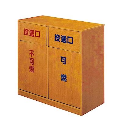 文創集 蘿倫環保2.8尺塑鋼環保回收櫃-85x40x84cm-免組