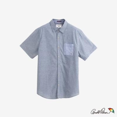 Arnold Palmer-男裝-口袋撞色棉麻襯衫