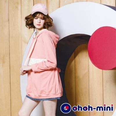 ohoh-mini 孕婦褲 牛仔條紋短褲裙