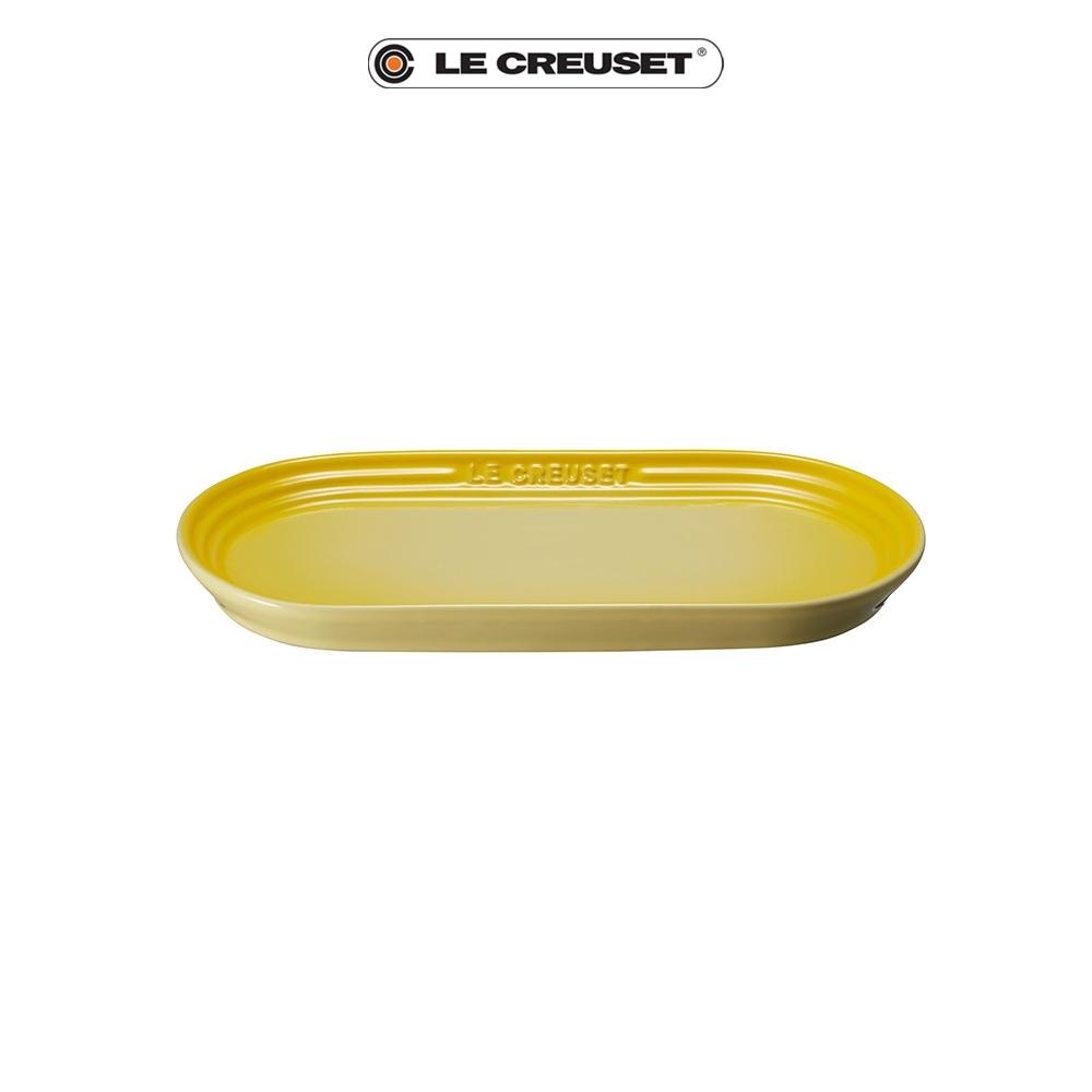 [任4件6折] LE CREUSET瓷器日式橢圓盤25cm(閃亮黃)