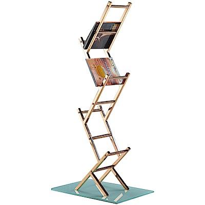 文創集 派路西奢華風2尺開放式書架/收納架-60x40x135cm免組