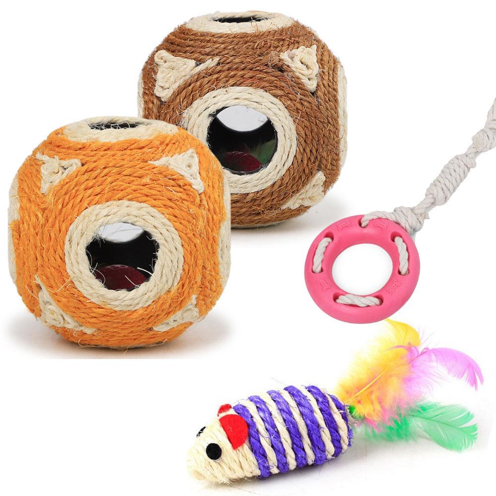寵愛有家-劍麻製品寵物玩具3件組(寵物玩具)