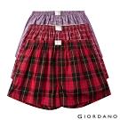 GIORDANO 男裝純棉寬鬆平底四角褲(三件裝)-01 紅格子