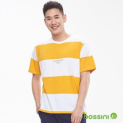 bossini男裝-圓領短袖上衣02亮黃