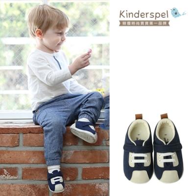Kinderspel 輕柔細緻.郊遊趣休閒學步鞋(小選手藍)(15cm)