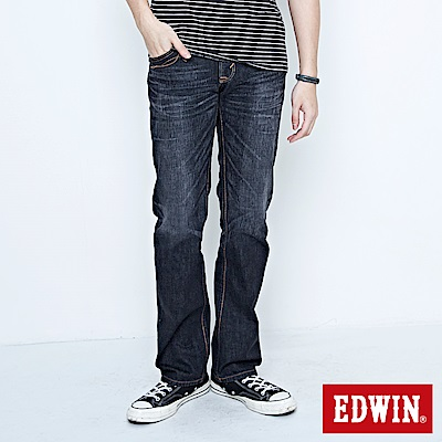 【EDWIN】生活態度 XV袋蓋中直筒牛仔褲-男款(灰色)