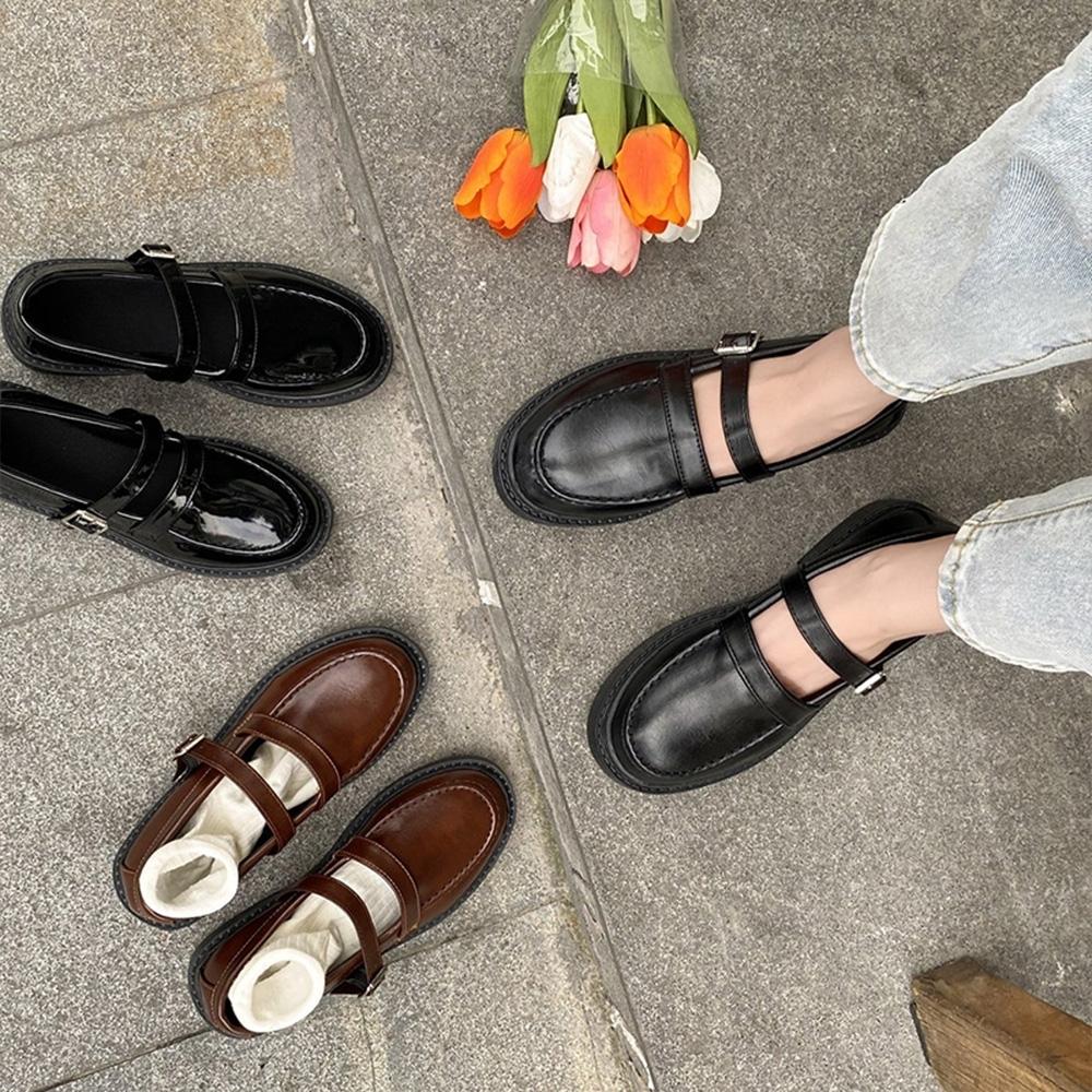 韓國KW美鞋館-甜心帥氣樂福鞋(/休閒鞋/平底鞋)(共3色)