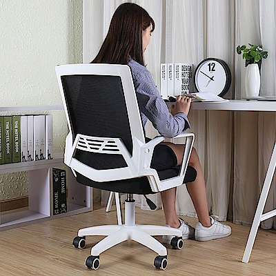 【STYLE 格調】麥肯加寬坐墊透氣密集網布電腦椅/會議椅(升級PU靜音滑輪)