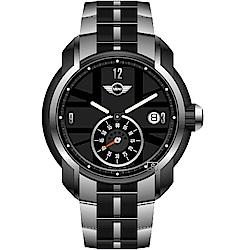 MINI Swiss Watches英國圖騰經典賽車錶(MINI-48S)-黑/42mm