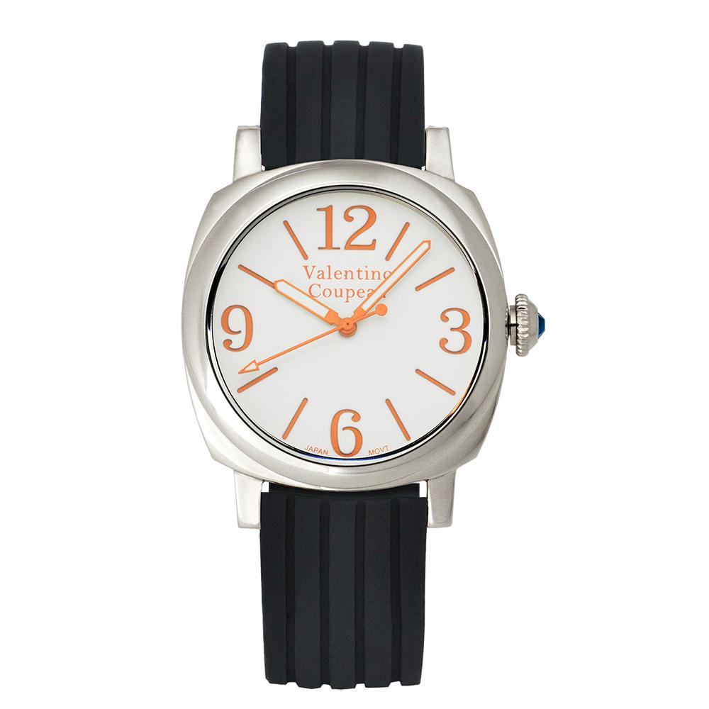 Valentino Coupeau 范倫鐵諾 古柏 紳士風尚腕錶 白面 矽膠錶帶