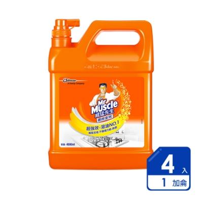 威猛先生 廚房超強效清潔劑加侖桶(4入/箱)