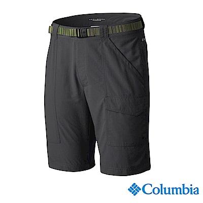 Columbia 哥倫比亞 男款-防曬UPF50防潑短褲-深灰