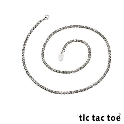 tic tac toe 白鋼造型單鍊-方塊(中)