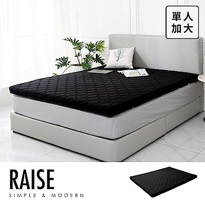 Raise鑽黑乳膠薄墊[單人3.5×6.2尺] (OTPB-00414)