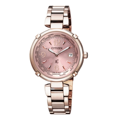 CITIZEN xC 鈦金屬櫻花粉紅女腕錶(EC1047-57W)31mm