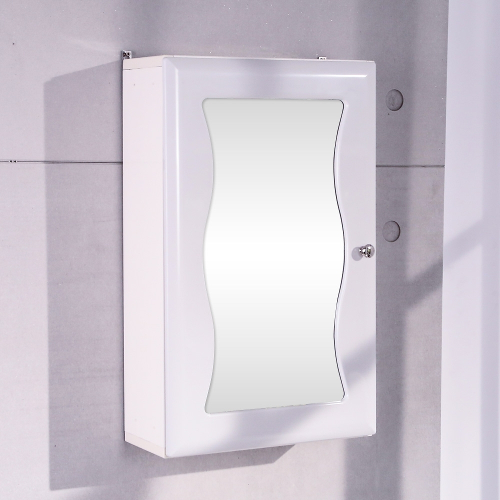 【LOGIS】美人心機鏡面防水浴櫃 化妝櫃 飾品櫃 鏡台 鏡子 吊櫃 櫥櫃