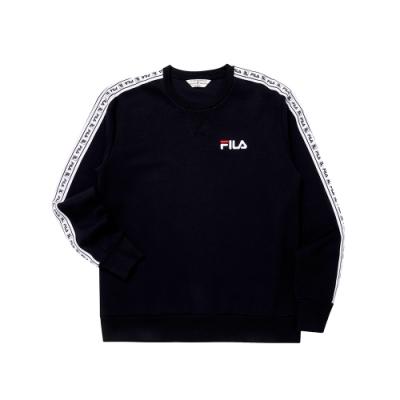 FILA #日潮攻略首部曲 長袖圓領T恤-黑色 1TEU-1401-BK