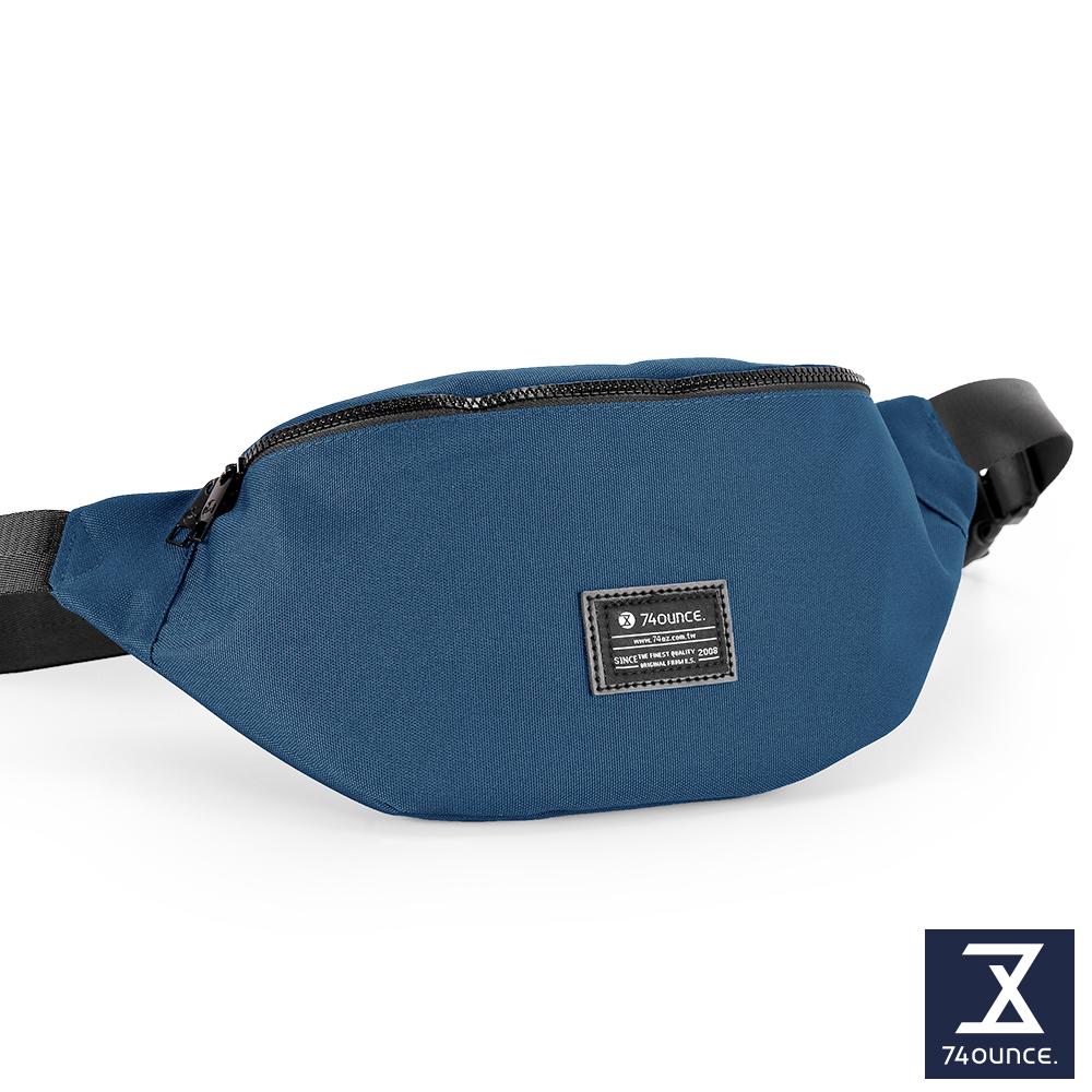 74盎司 Life 簡約設計尼龍胸包[G-1033-LI-M]藍