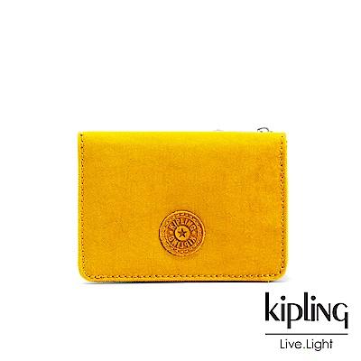 Kipling 亮眼芥末黃實用短夾-ALETHEA