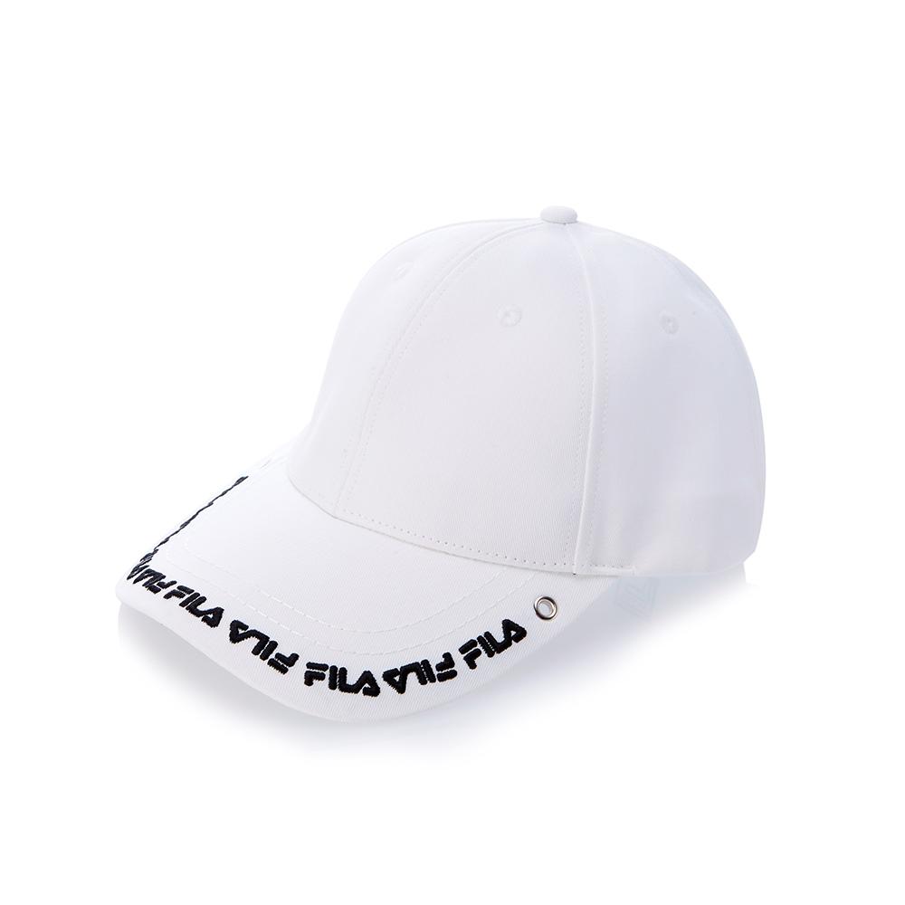 FILA時尚 LOGO 帽-白 HTS-5100-WT