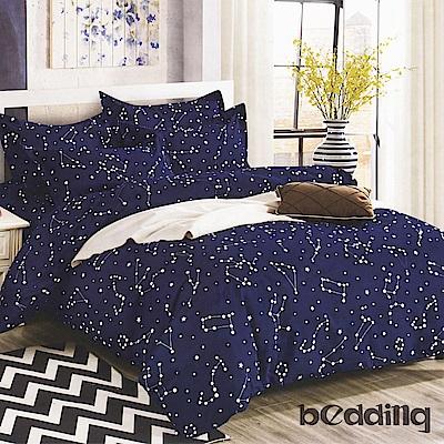 BEDDING-活性印染5尺雙人薄床包涼被組-浩瀚星空