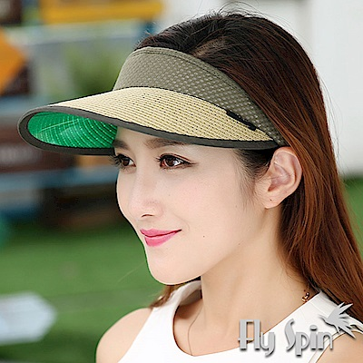 FLYSPIN 抗UV防紫外線紙草編防曬空心帽