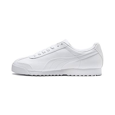 PUMA-Roma Basic 男女復古足球運動鞋-白色
