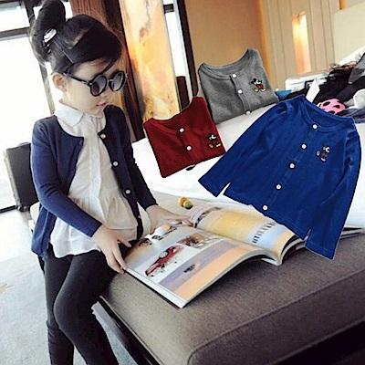 小衣衫童裝   男生女生超實穿百搭純色針織外套1050304