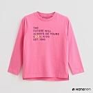 Hang Ten -童裝 - 休閒風字母壓印棉質上衣 - 粉