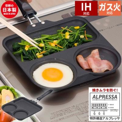 [杉山金屬] 日本製 三格青蛙平底鍋/鬆餅鍋-全新一代(可用於200V電磁爐)