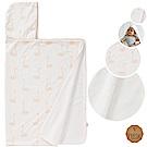 荷蘭 FRESK 有機棉嬰兒浴巾/保暖毯 (蜜桃天鵝)