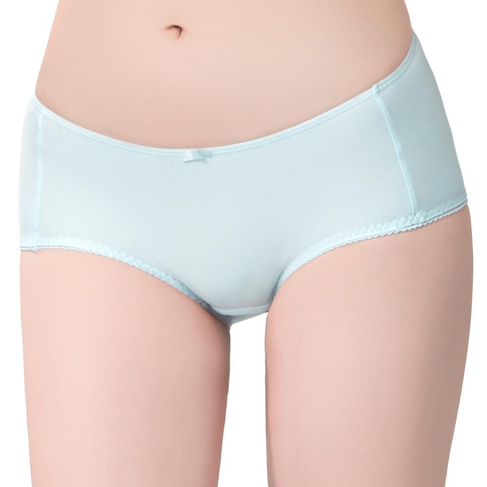 思薇爾 棉花糖純真風系列M-XL中低腰平口內褲(水藍色)