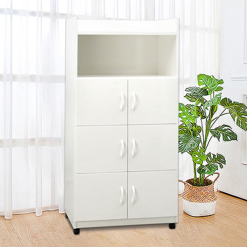 Boden-2.1尺六門一格防水塑鋼附輪收納櫃/移動式置物櫃/活動櫃(四色可選)-64x42x151cm