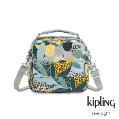 Kipling 叢林展葉綠兩用側背後背包-CANDY