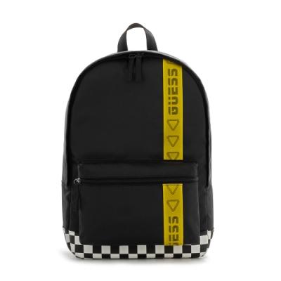 GUESS-男包個性拼接字母LOGO後背包-黑 原價2890