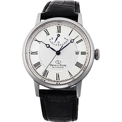 ORIENT STAR 東方之星 CLASSIC 羅馬機械錶-銀x黑/38.7mm